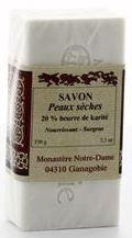 Savon peau sèche. 20 % beurre de Karité. 150 g.