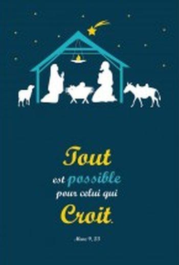 Carte double Noël