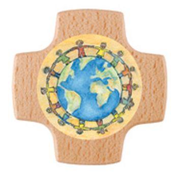 Croix communion en bois massif