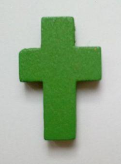 Petite croix verte. Lot de 6.