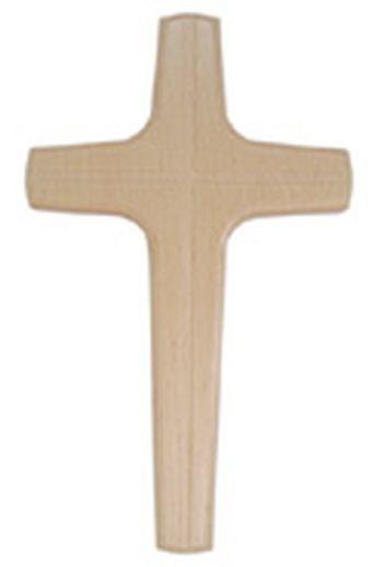 Croix murale bois massif
