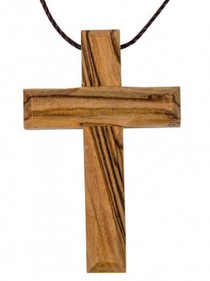 Croix en bois avec cordon