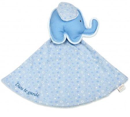Doudou éléphant bleu