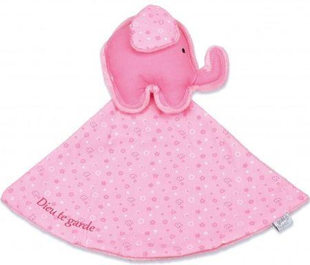 Doudou éléphant rose