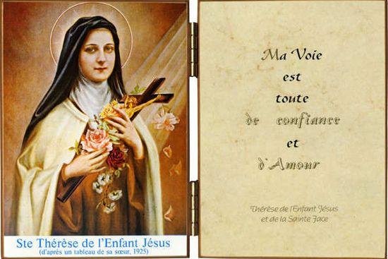Diptyque  Sainte Thérèse de l'Enfant Jésus