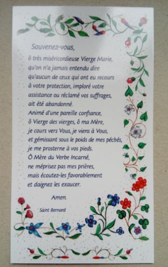 Image «Souvenez-vous» Saint Bernard