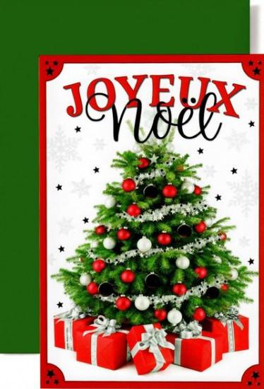 Carte double Joyeux Noël