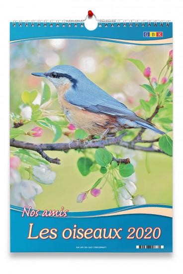 Calendrier 2020 grand format. Les oiseaux