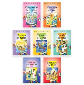 Pack 7 livrets Ma mini bible avec jeux