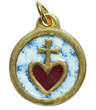 Médaille Sacré Coeur blanche