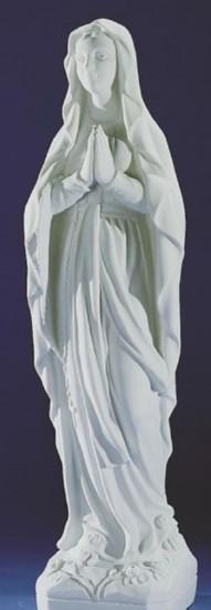 Notre Dame de lourdes. 11 tailles. Marbre reconstitué
