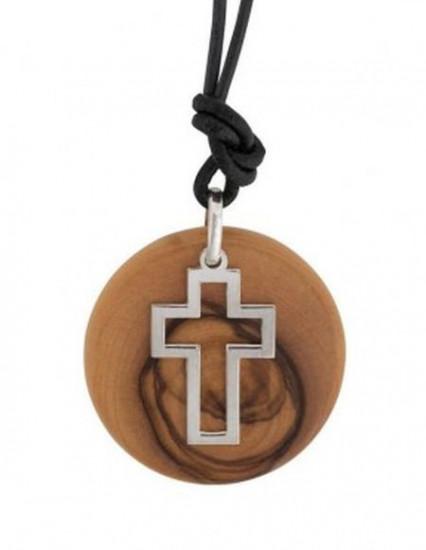 Collier pendentif croix Bethléem