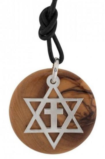 Collier pendentif étoilede David Bethléem