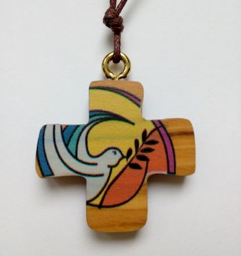Pendentif bois Esprit Saint