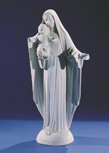Vierge  à l'Enfant. 52 cm. Marbre reconstitué
