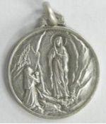 Médaille argentée, Notre Dame de Lourdes
