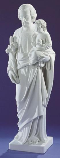 Saint Joseph. 79 cm. Marbre reconstitué