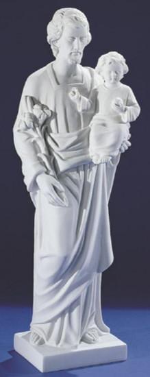 Saint Joseph. 60 cm. Marbre reconstitué