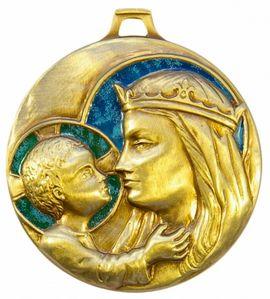 Médaille Berceau Vierge à l'Enfant 5,5 cm