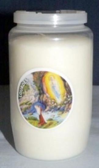 Veilleuse blanche Notre Dame de Lourdes