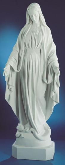 Vierge Miraculeuse. 185 cm. Marbre reconstitué