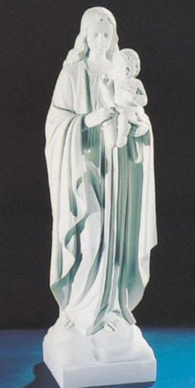 Vierge à l'Enfant. 63 cm. Marbre reconstitué