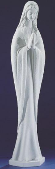 Vierge aux mains jointes. Marbre reconstitué