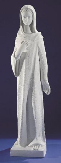 Vierge Marie. 2 tailles. Marbre reconstitué