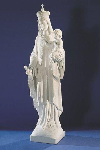 Vierge  à l'Enfant. 61,5 cm. Marbre reconstitué