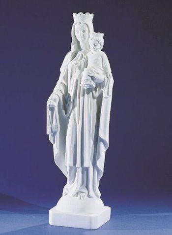Vierge du Mont Carmel. 52 cm. Marbre reconstitué