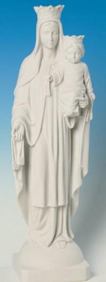 Vierge du Mont Carmel. 63 cm. Marbre reconstitué