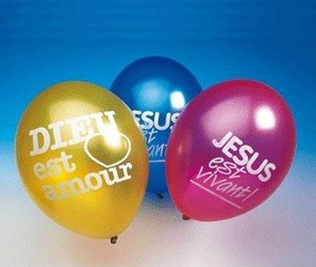 Ballons Jésus est Vivant !
