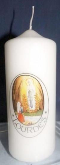 Bougie Notre Dame de Lourdes