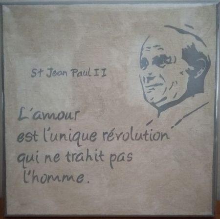 Cadre toile Jean-Paul 2