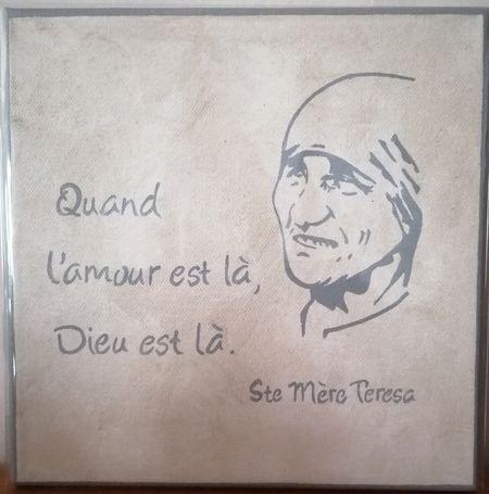 Cadre toile Mère teresa