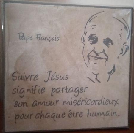 Cadre toile pape François