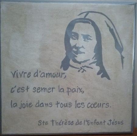 Cadre toile sainte Thérèse de Lisieux