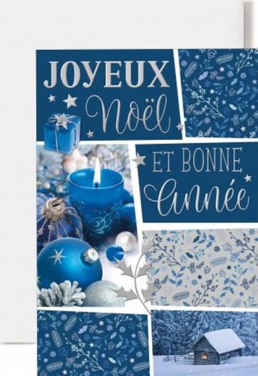 Carte double Joyeux Noël et bonne année