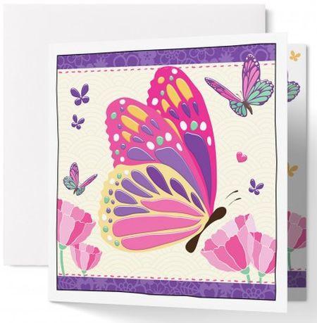 Carte double : Papillons
