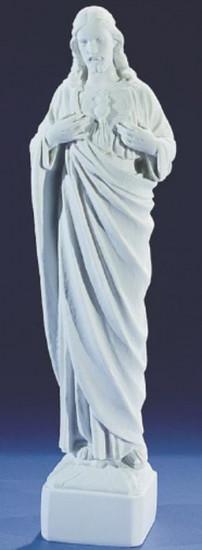 Sacré Coeur. 46 cm. Marbre reconstitué