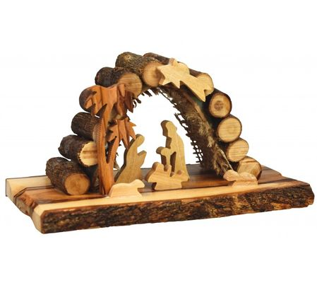 Crèche en bois d'olivier