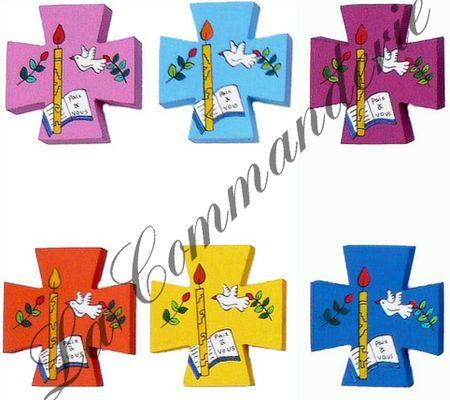Lot de 6 croix fêtes de la foi
