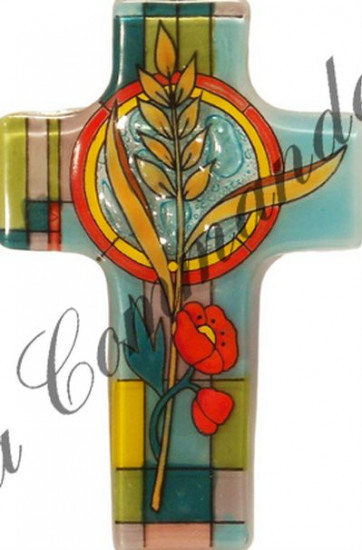 Croix en verre pain de vie