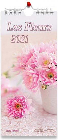 Calendrier 2021 Fleurs sans texte.