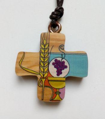 Pendentif bois Profession de Foi / 1ère Communion