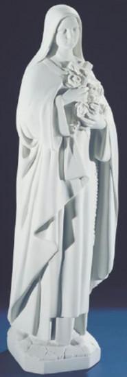 Sainte Thérèse. 59 cm. Marbre reconstitué