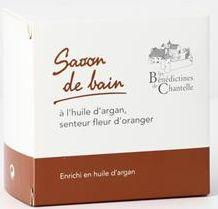 Savon de bain à l'huile d'argan. Senteur fleur d'oranger. 250g.
