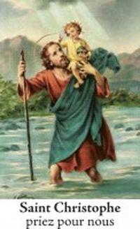 Autocollant saint Christophe