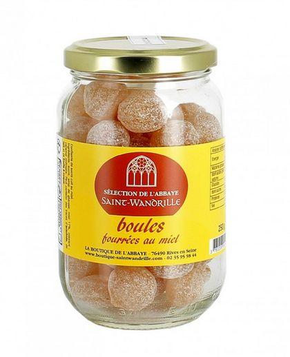 Bonbons boules fourrées au miel. Lot de 2