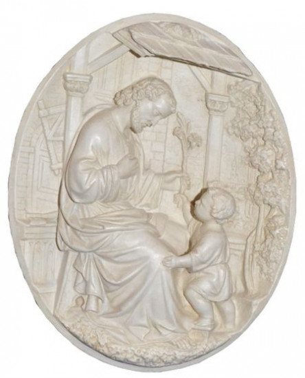 Bas-relief saint Joseph 23 x 19 cm